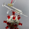 C19 Covid Christmas Ornament Corona Coronavirus Vaccine Vaccination