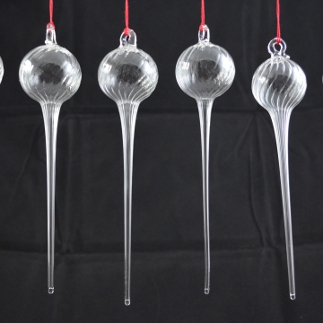 Icicle ornaments glass Tree Christmas