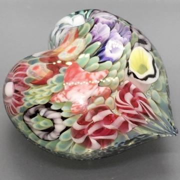 Sea Floral Chunky Heart Pendant