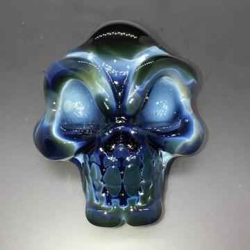 Skull Pendant Black, Blue, White & Green
