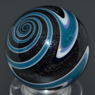 Graphite sparkle, Blue, Black and White Striped Marble
