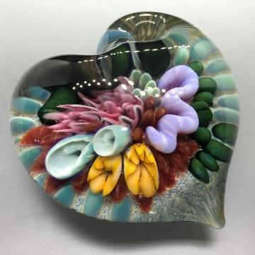 Sea Floral Heart Pendant 5