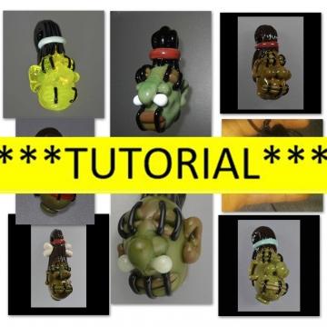 TUTORIAL - How to make a lampwork glass Shrunken Head pendant