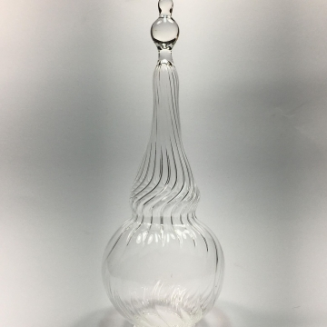 Clear scalloped Christmas Tree Topper