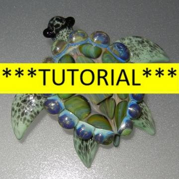 Sea Turtle TUTORIAL - How to make a Boro Sea Turtle Pendant Lampwork glass